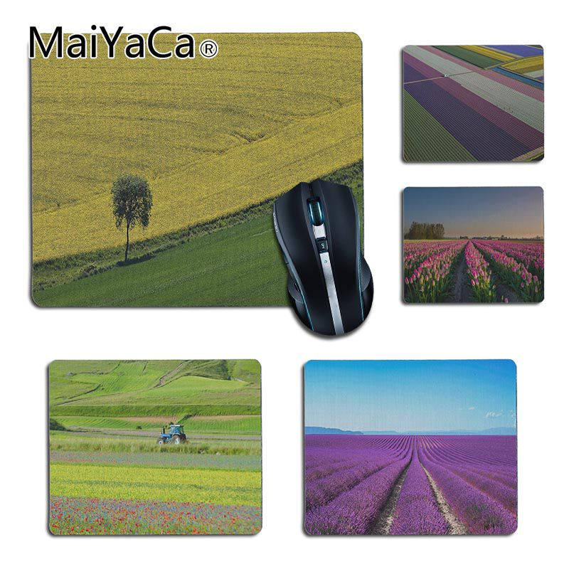 MaiYaCa New Color Fields Provence Lavender Tulip Small Gaming MousePad For Mouse Pad Gamer Decorate Your Desk At Home And Office