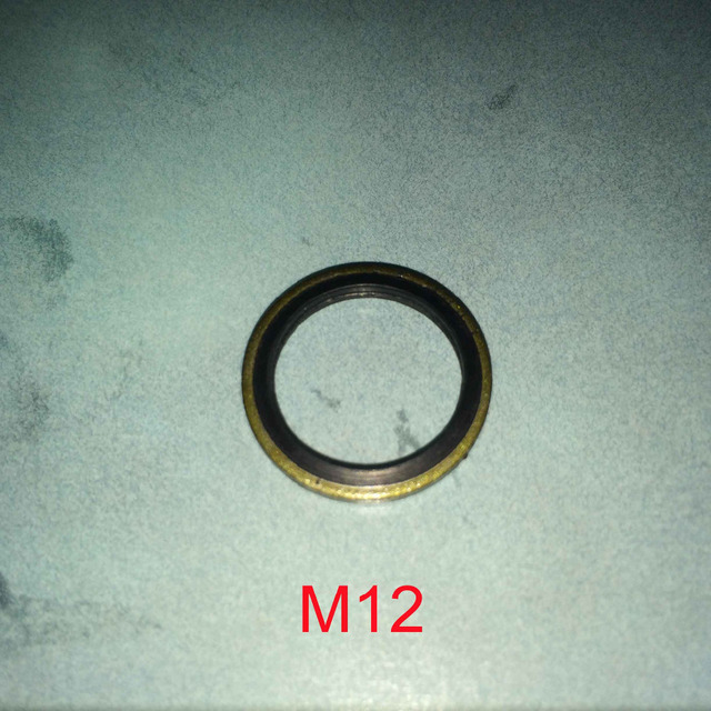 100 PCS Metal & Rubber bonded seal Oil Drain Plug Washer Gasket Pad ...