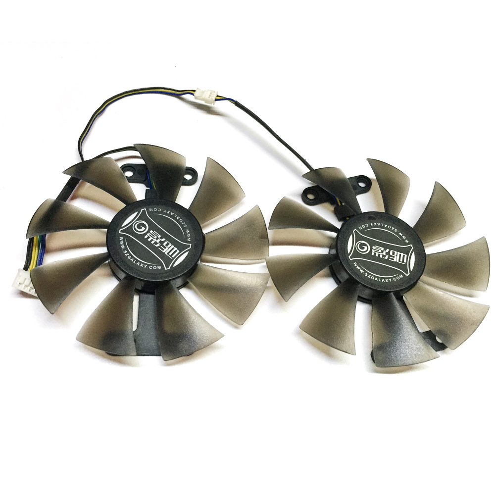 Купить с кэшбэком Free Shipping 2pcs/Lot 86mm VGA Fan 4Pin For GALAXY GTX950 960 GTX1060 Graphics Card Cooler Cooling Fan