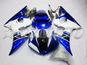 3 бесплатные подарки Новый ABS обтекатель двигателя комплект подходит для YAMAHA YZF-R6 2003 2004 2005 R6 03 04 05 Обтекатели набор цвет синий белый