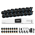 16CH AHD 1080P DVR Kit Outdoor Security Camera System Onvif 16PCS Waterproof IR CUT Camera kit alarm systems security home
