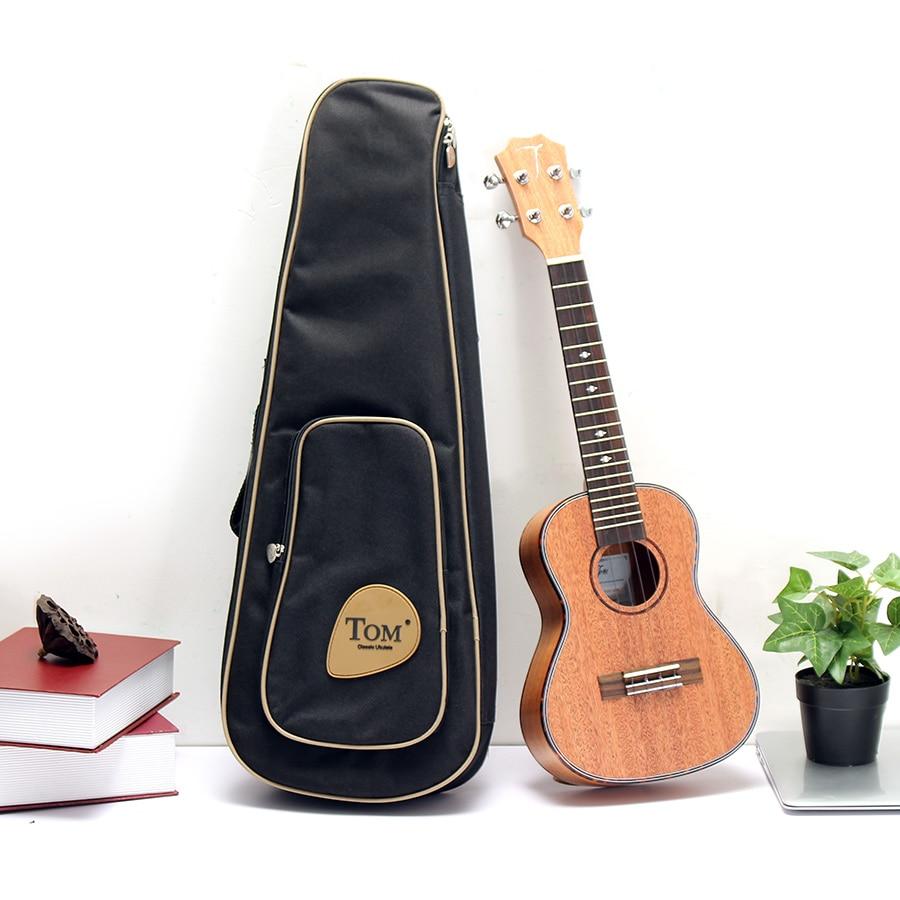 23 4 Strings Ukulele Mahogany Rose Wood Hawaiian Guitar With Gig Bag/Strap/AROMA Tuner kmise soprano ukulele mahogany ukelele uke 21 inch 4 string hawaiian guitar 12 fret with gig bag tuner