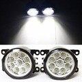 Para mitsubishi pajero 4/iv van caixa v80 v90 2007-2015 car styling led faróis de nevoeiro reequipamento 12 v luzes de nevoeiro luz