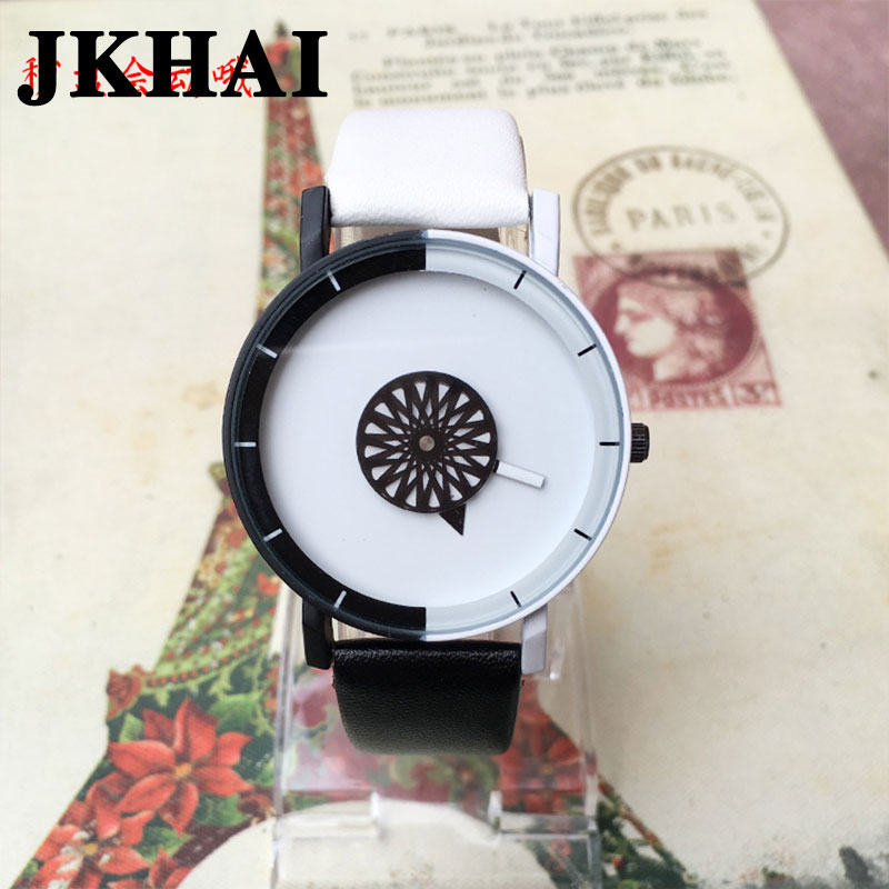 Korean Fashion Watch Neutral Wind Harajuku Explosion Candy Color Couple Watches a Pair of Male and Female Students male and female students personality watch oversized dial skull pattern leather watchband neutral retro couple watches