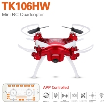 Skytech TK106HW Mini Drone with Camera 0.3MP HD WiFi Remote Control Helicoptero 9.5*9.5*4.cm Small Size Funny Toys