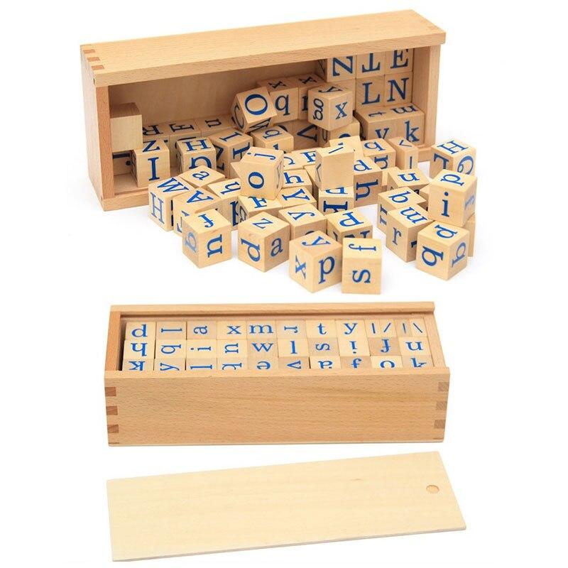 Nouvelle Conception Enseignement Matériaux Montessori Alphabet Lettres Montessori Éducatifs En Bois Jouets En Bois Lettre Perles Jouet WD41