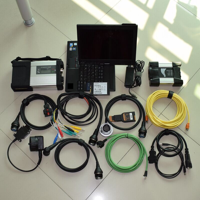 2018 mb star c5 and for bmw icom next 2 IN 1 newest software SSD 1tb with laptop x201t i7 ready to use diagnostic tool