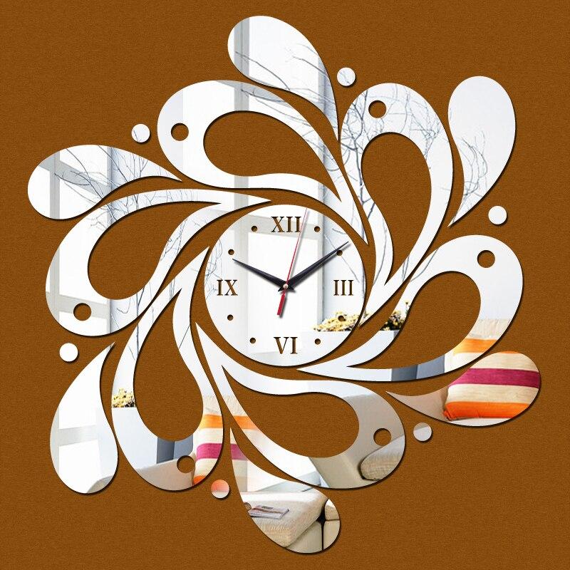 Acrylic Mirror Wall Stickers Watch Clocks Home Decoration Clock Quartz Living Room Modern 3d Free New Rushed Shipping Sticker Watch Clock Home Decorhome Decor Clock Aliexpress