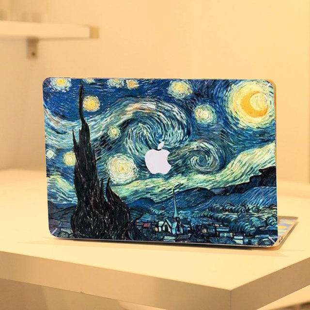 best loved e8f33 4c6f4 US $12.99 |Starry Night Van Gogh Canvas Painting Front Cover Vinyl Decal  Laptop Skin For Apple Macbook Pro 13 13.3 Inch A1278 Sticker-in Laptop  Skins ...