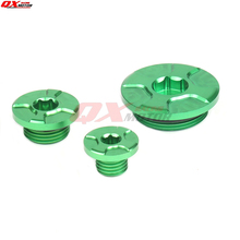 motorcycle engine plugs oil filler cap cover timing crankcase cover plug for kawasaki kx250f kx450f klx450r kx 250f 450f 2015 CNC Engine Timing Oil Filter Plug Set Fit  KX250F 11-16 KX450F 09-16 KLX450R 08-15 Dirt Bike Motocross Off Road Motorcycle