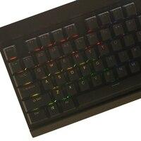 התאורה האחורית שחור לבן 104 מפתח PBT הזוגי נורה התאורה האחורית keycaps במשך keycap מכירה מקלדת Corsair לבזוק K65 K70 Logitech G710 + המכנה (4)