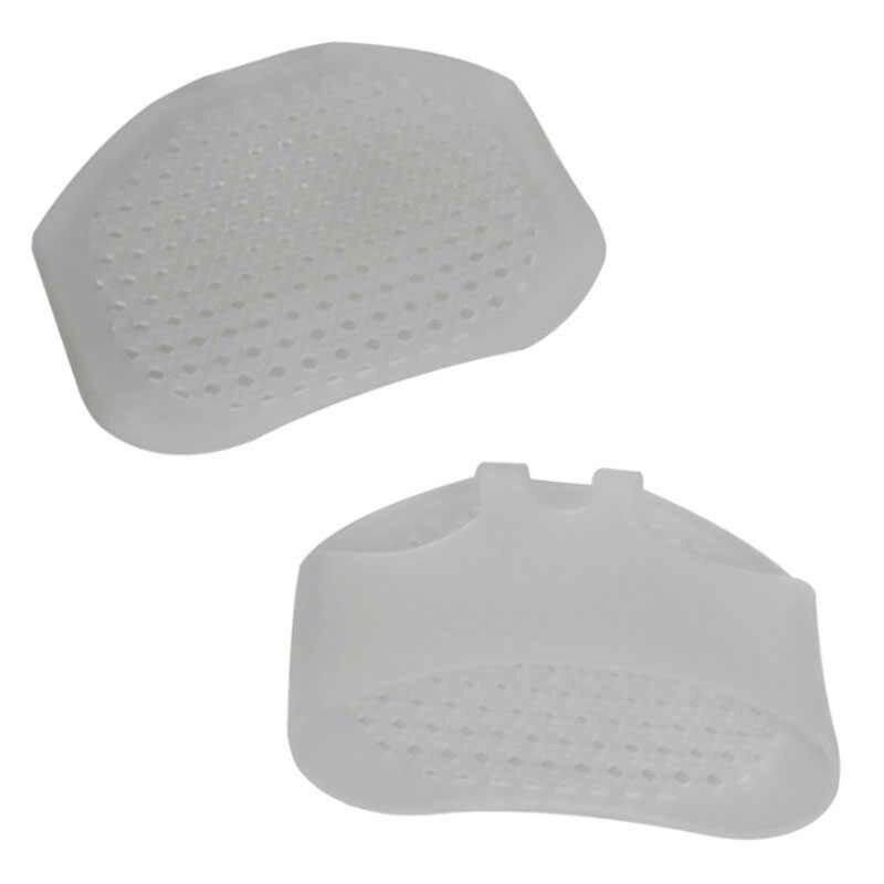 1 คู่ซิลิโคน heel pad Soft Forefoot Pads ที่มองไม่เห็นส้นรองเท้ากันลื่นครึ่ง Yard Pads เท้าบรรเทาอาการปวด
