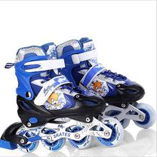 High qulity children roller skates shoes comfortable and soft shoes with size S/M/L Breathable and Wearable Skate Shoes children water proof skates shoes roller skating shoes with size s m l red blue pink available