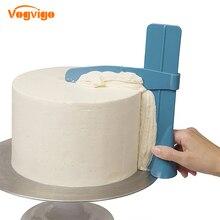VOGVIGO 1 шт. скребок для торта Гладкий Регулируемый шпатели для мастики для края торта Гладкий крем DIY Инструменты для выпечки Торты Кондитерские шпатель
