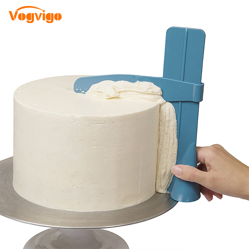 VOGVIGO 1pc Cake Scraper Smoother Adjustable Fondant Spatulas Cake Edge Smoother Cream DIY Baking Tools Cakes