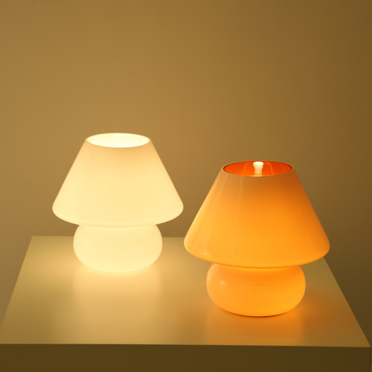 Special Children S Night Light Mushroom Lamp Ikea Creative Cute Orange  Glass Saving Small Bedside Lamp