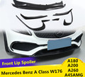 Углеродное волокно и ABS передний спойлер противотуманный светильник Накладка для Mercedes Benz A Class W176 A45 A180 A200 A260 2017 2018