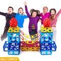 Mini 158 unids/lote magnética modelo de construcción bloques de construcción de juguetes diy 3d ladrillos educativos de aprendizaje de diseño magnético