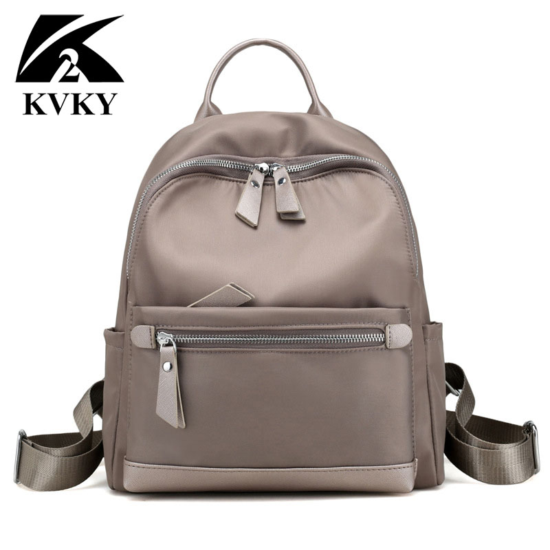 KVKY Famous Brand Women Backpack Waterproof Nylon School Bag Students Backpack Women Travel Bags Shoulder Bag for Teenager Girls