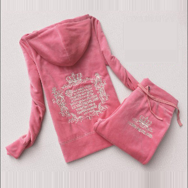 Spring / Autumn / 2017 Women's Brand Tracksuit Velvet Cloth Women's Suit Velor Tracksuit Sweatshirts & Pants size S-XXXL