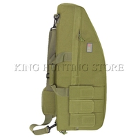 Army Green Tactical Gun Bag Soft Paddle Case Rifle Storage Hunting Bag with Magazine Pouch Airsoft Gun Rifle Case