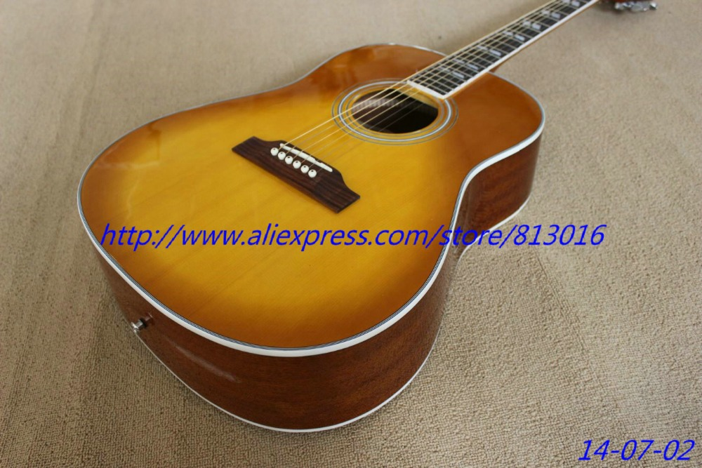 Very Beautiful New Honey Burst Electric Guitar Acoustic Guitar With