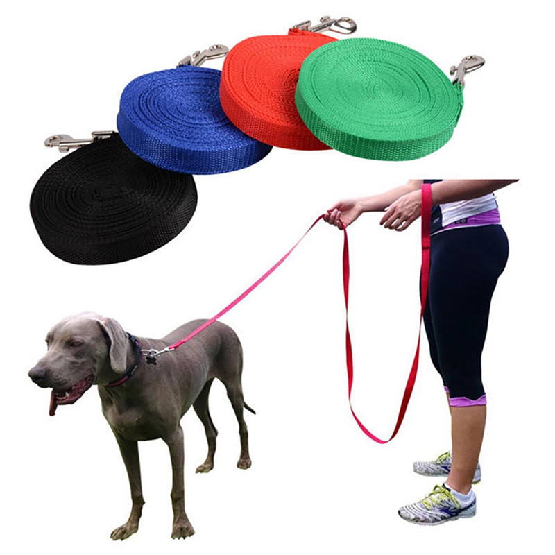 6m/9m/15m Dog Puppy Lead Leash Obedience Nylon Training Recall Rope Retractable Leads