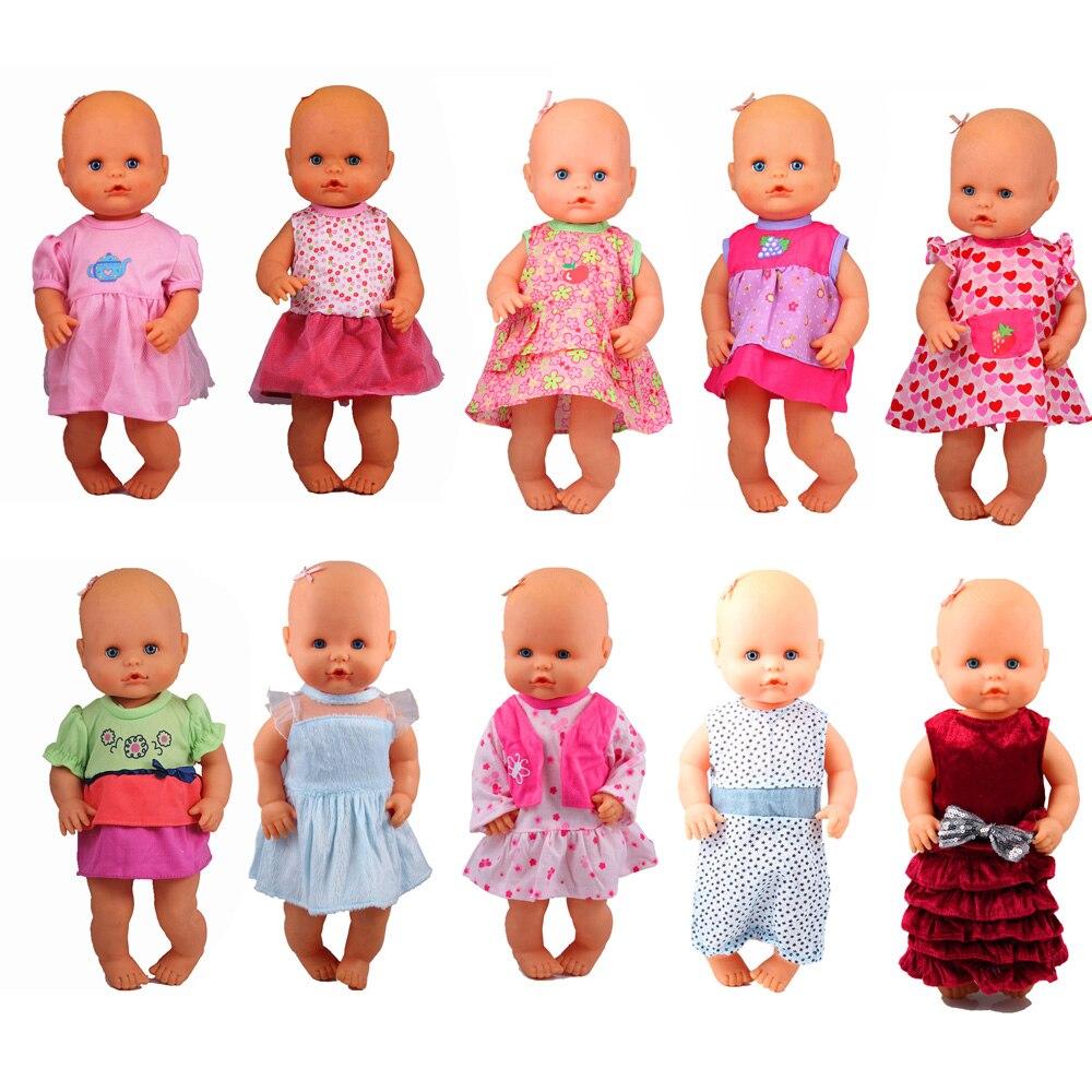 13inch Doll Clothes 35CM Nenuco Ropa Accesorios Nenuco Y Su Hermanita 10 Styles Dresses Fashion Dresses For Choosing