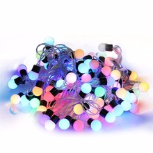 7 color changes 12m 100 led string fairy lights party christmas halloween holiday party festival garden