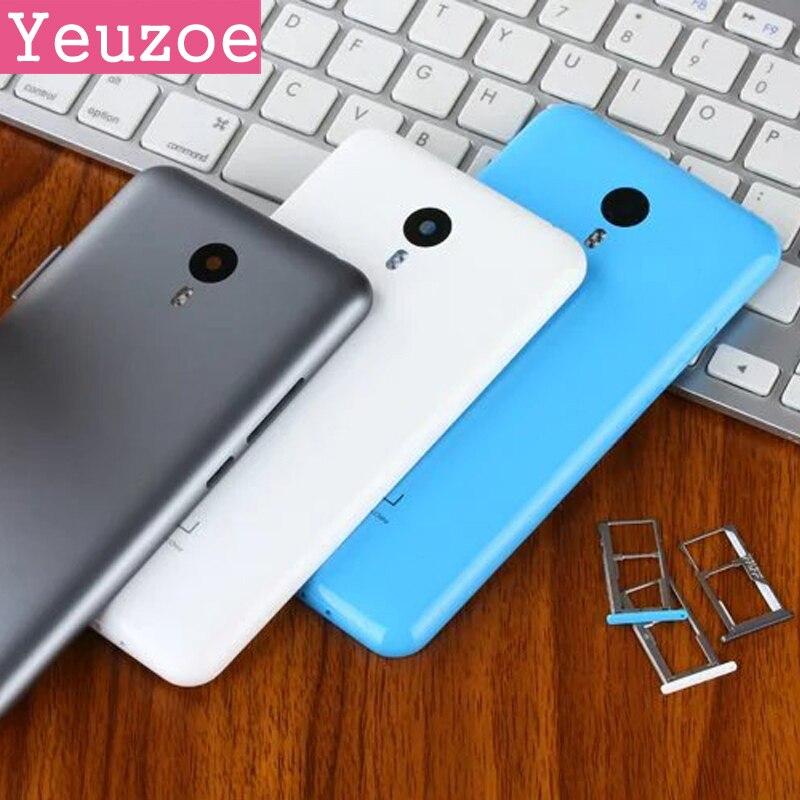 Ersatzteile SIM Karten-behälter für Meizu Note 2 Akku Rückseite fall Für Meizu M2 Hinweis zurück ersatz, Kameraobjektiv + Aber