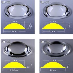 Image 5 - 18, 20 мм, 22, 23, 25 мм, 28 мм, 29, 32, 34, 36 мм, 37,5, 40,6, 42, 45 мм, 50 мм, линзы PMMA для Q5 T6, L2, XPL, масштабируемый светодиодный фонарик, фонарь, велосипедный фонарь