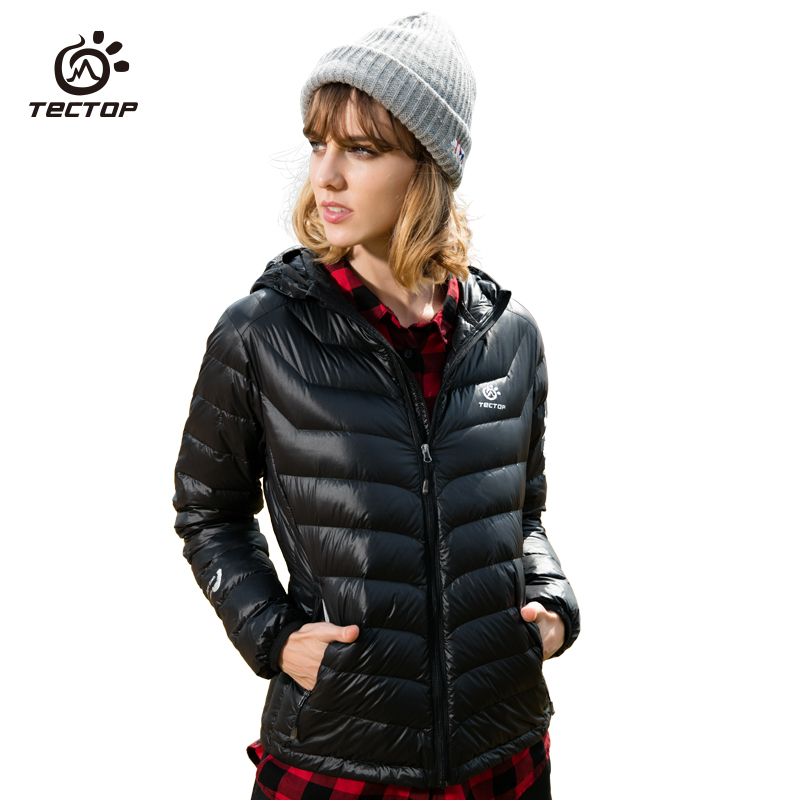 Tectop Winter down Jackets female Ultra light 90% Duck Down warm waterproof Outdoor camping hiking Down coat for women цены онлайн