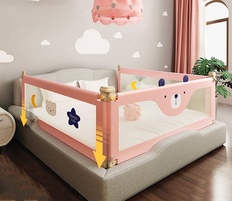 2020 Vertical lift bed fence 0-6 years old Baby protective rail child safety against 1.2-2.2 meters bedside baffle bed guardrail