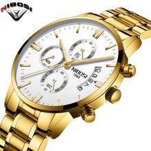 NIBOSI relojes de marca de lujo para hombre, de cuarzo, deportivo, militar, resistente al agua, Masculino, 2019