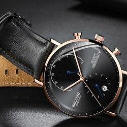 2019 męski biznesowy zegarek na rękę mężczyzna zegarki chronograf luksusowy marka mężczyzna zegar kwarcowy zegarek zegarek męski męskie zegarki na rękę w Zegarki kwarcowe od Zegarki na