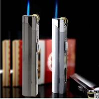 Encendedor de cigarrillos azul inflable a prueba de viento  Mini encendedor creativo para exterior  rueda de molienda  encendedor de Metal|lighters free shipping|cigarette lighter windproof|lighter windproof -