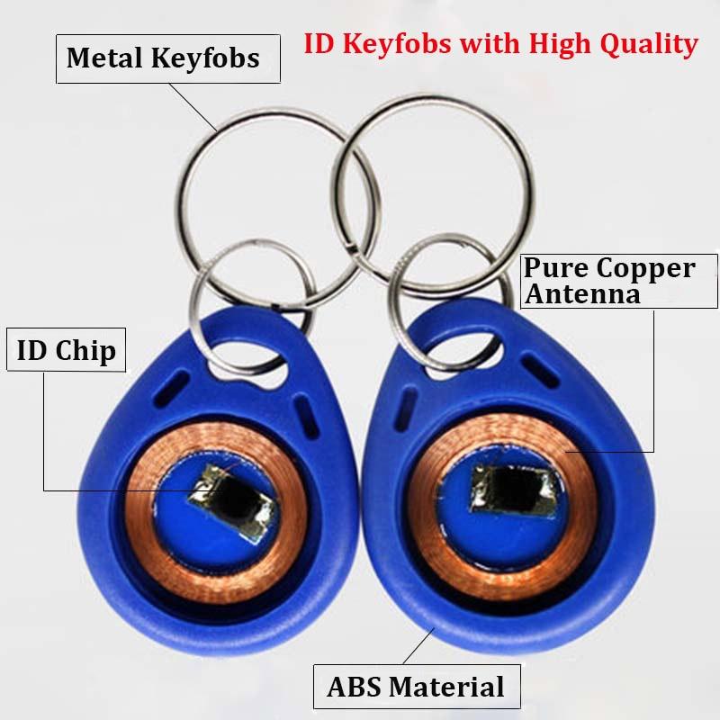 цена на 30pcs EM4100 125khz ID Keyfob RFID Tags Access Control Card TK4100 Porta Chave Card Sticker Key Fob Token Ring Proximity C