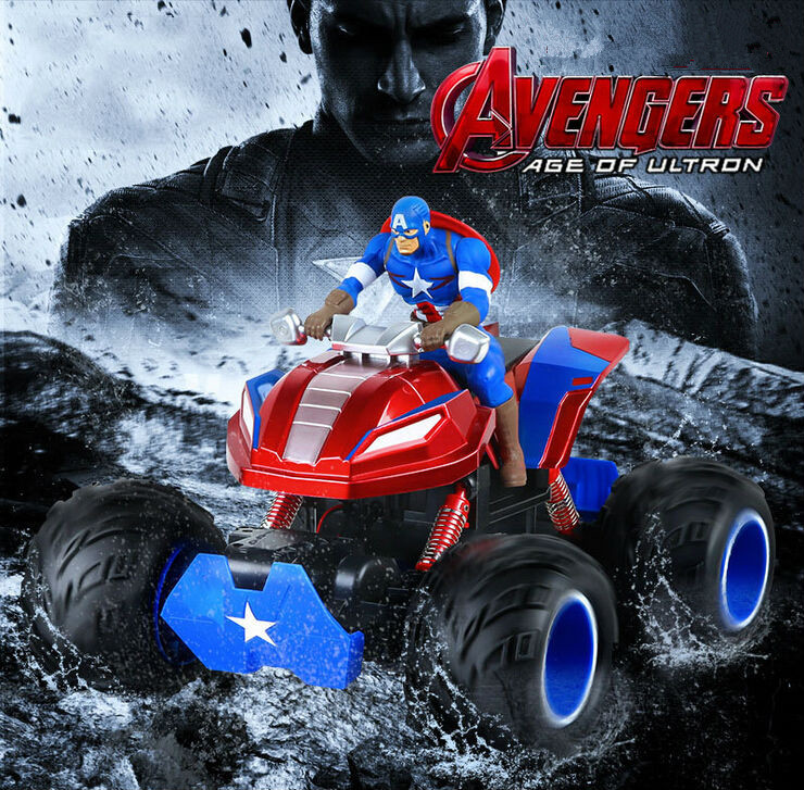 Hot Sell Captain America 4WD off-Road RC Car Rock Crawlers Driving Car 1/10 Scale RC Monster Truck 2.4GHz  Double Motors Drive 02023 clutch bell double gears 19t 24t for rc hsp 1 10th 4wd on road off road car truck silver