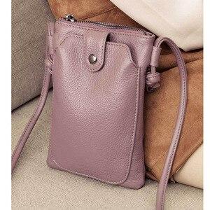 Image 4 - 2019 Nouvelle arrivée femmes Sac À Bandoulière En Cuir véritable douceur petit Bandoulière Sacs pour Femme Messenger Sacs mini Embrayage sac