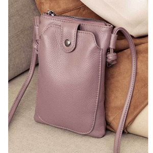 Image 4 - 2020 New Arrival Women Shoulder Bag Genuine Leather Softness Small Crossbody Bags For Woman Messenger Bags Mini Clutch Bag