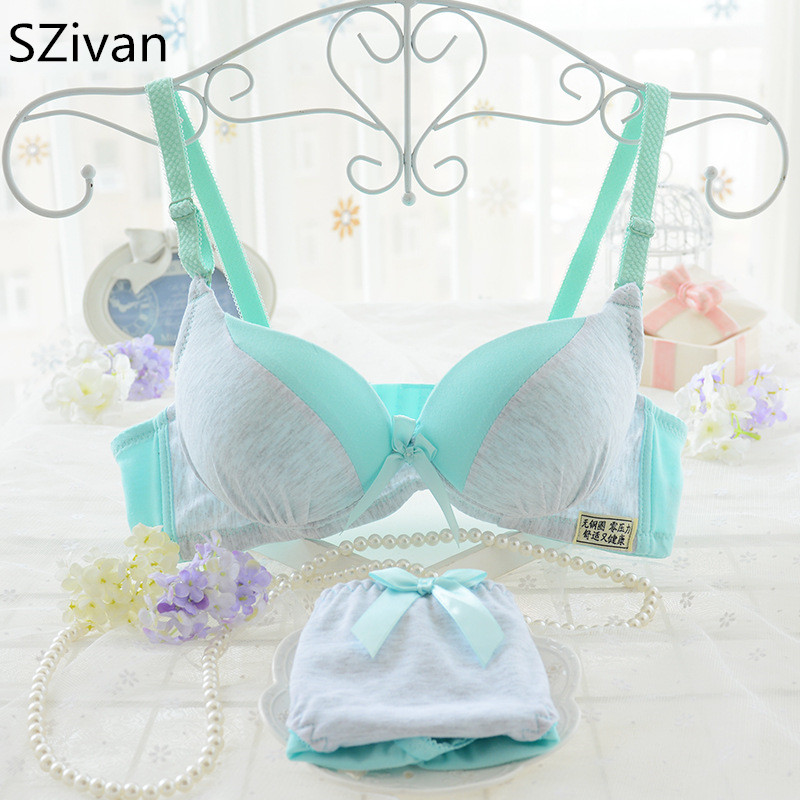 SZivan Cotton bra for Girls Cute and comfortable training bra set teenage girls underwear
