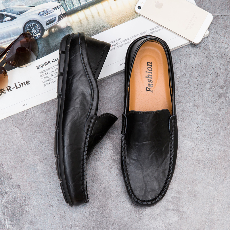 100% QualitäT Männer Schuhe Echte Kuh Leder Mokassin Müßiggänger Tenis Masculino Adulto Handgemachte Slip Auf Flache Boot Schuhe Männlichen Schuhe Größe Xz-031