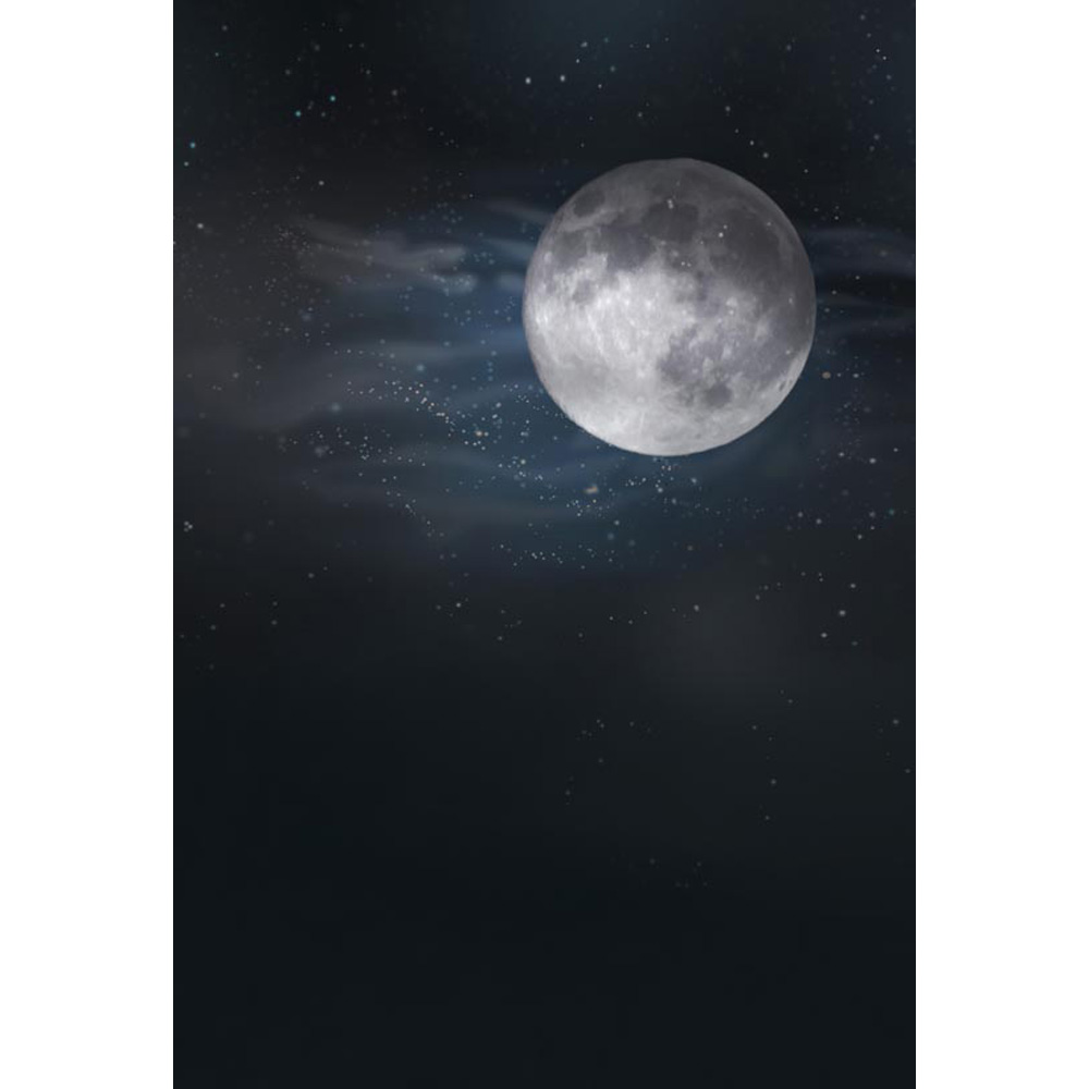 NeoBack 2017 Fast shipping 5x7ft vinyl Moon lighte view new born baby photo backgrounds Printed Children kids Backdrops P0774