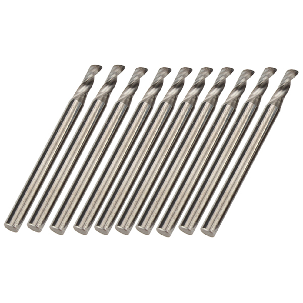 Acrylic ABS Carbide Single Flute Spiral Bit CED 2.5mm CEL 6mm Pack of 10 pack of 600 0 6mm