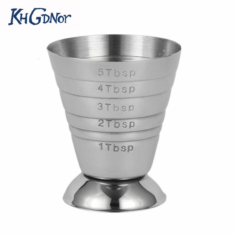 Stainless Steel Measuring Shot Cup Ounce Jigger Bar Cocktail Drink Mixer Liquor Measuring Cup Measurer Mojito Measuring Tool cup