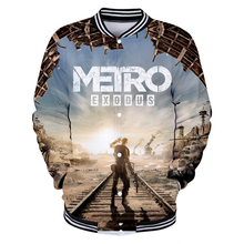 Fashion Cool Mens Baseball Jackets Metro Exodus Men/Women Popular Clothes Harajuku Casual popular Uniform