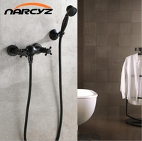 Black Bronze Spray Faucet Bathtub Shower Faucet Continental Retro Simple Shower Shower Set XT301