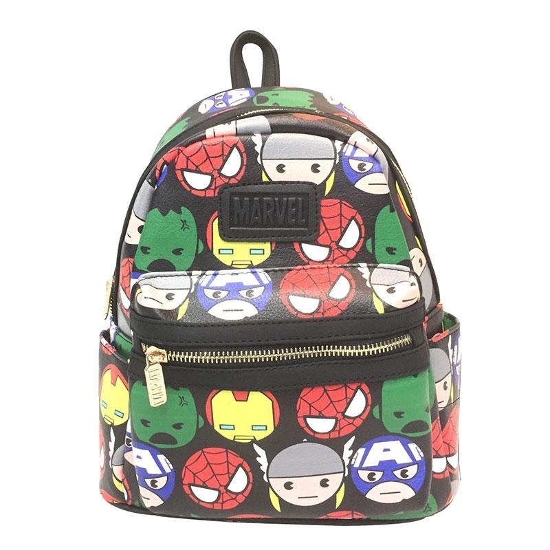 Children School Backpack Cartoon Anime Marvel DC Avenger Hero Leather School Bags Star Wars Batman Deadpool Wonder Woman Bag