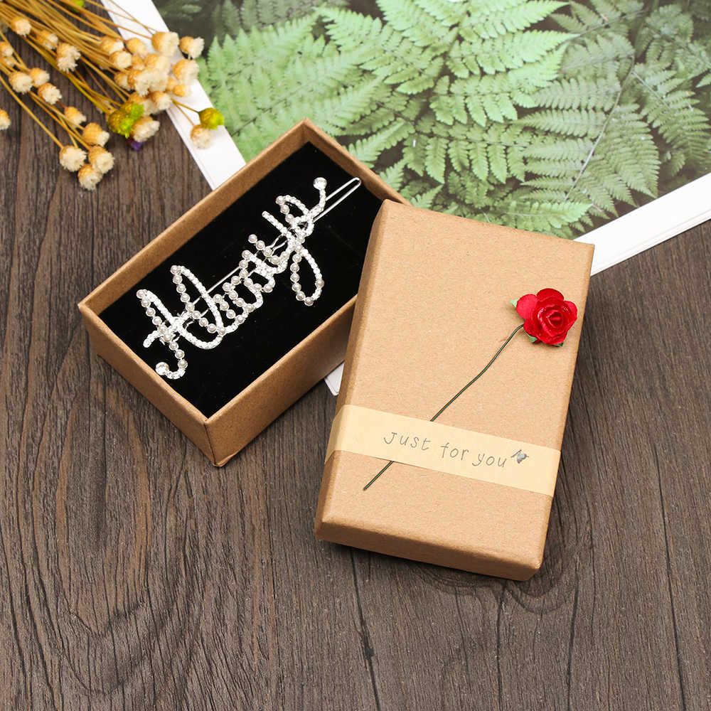 1Pcs Small Kraft Paper Box brown Cardboard Handmade Soap Box Craft Paper Gift Box Packaging Jewelry Box Small Present Lovely Bo