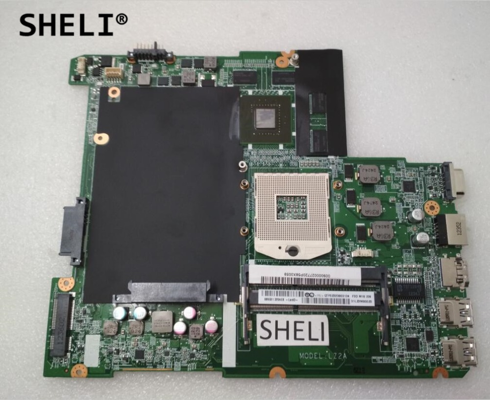 SHELI For Lenovo Z480 Motherboard DALZ2AMB8F0 With GT630M Video Card HM76